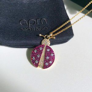 Apm Monaco Gold Ladybug Necklace